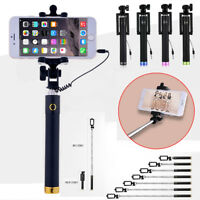 Pop Monopod Selfie Stick WIRED FOLDABLE  Mobile Phone Holder For Samsung iPhone