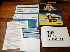 """The Lost Admiral - 5 1/4-inch Floppy + 3 1/2"""" Disk PC game Complete Big Box"""