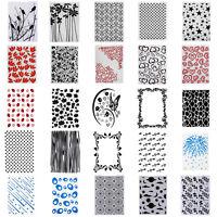 Christmas Plastic Embossing Folders Stencil Template Scrapbooking Paper Card DIY