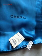 Authentic CHANEL Logos XL Long Scarf 100% Silk  Italy 52x52