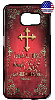Christian Cross Bible Design Case For Samsung Galaxy S9 S8 Plus S7 Edge S6 Cover