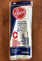 NEW Hoover Type C Upright Vacuum Cleaner Bags 40100003C 4 PACK Genuine OEM