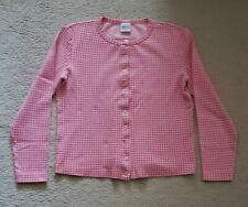 UNITED  COLORS OF BENETTON LONG SLEEVES SWEATER ARGYLE DESIGN PINK COLOR