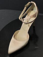 New Via Spiga Women's Beige Fabric Ankle Strap Heel Dress Shoes Size US 6 M