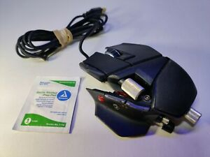 Mad Catz Cyborg R.A.T. RAT 7 Gaming Mouse  Black Wired 6400 DPI Working Good.