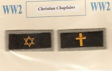 WW2 AUSSIE ARMY CHAPLAINS or JEWISH COLOUR PATCHES