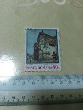 Romania stamp 40 Bani Posta Romana A. Sisley Biserica Din Moret 1974