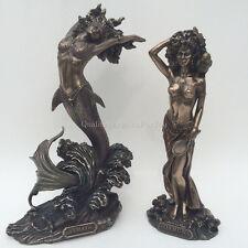SET OF 2 Yemaya & Oshun African Goddess Statue Sculpture Figures