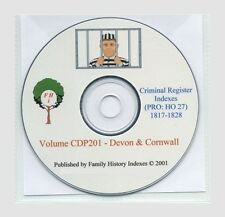 CRIMINAL REGISTERS - DEVON, CORNWALL 1817-28, Genealogy