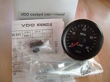 VDO Drehzahlmesser Instrument 4000 UPM 12V 52mm mit Beleuchtung Cockpit Int. Neu