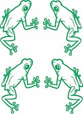 Green Frogs x 4 each sticker 150 x 105 Quality Stickers UV protected