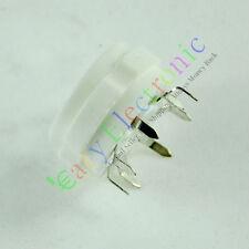 50pcs 8PIN PCB MOUNT SILVER CERAMICS VACCUM TUBE SOCKET 6L6 EL34 KT88 6550 RADIO