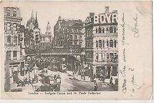 POSTCARD  LONDON  Ludgate Circus & St Pauls Cathedral