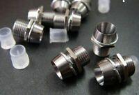10pcs Metal 5mm LED Mount Bezel Holder Cap Base for R G B Y  3v 6v 9v 12v LED