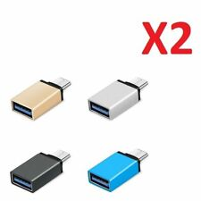 GEX 2 PCS 3.1 Type C Male to USB 3.0 A Female Converter USB-C Cable Adapter