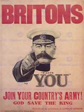 WAR RECRUITMENT ARMY MILITARY KITCHENER PROPAGANDA UK VINTAGE POSTER 1083PY