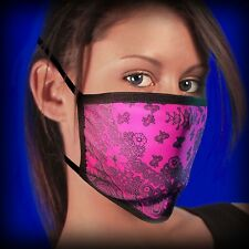 Hot Leathers Pink Paisley Face Mask with Filter Pouch