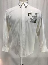 Bugatchi Uomo For Michael Jordan Long Sleeve Button Up Shirt Men's Sz Medium EUC