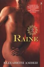 Raine the Lords of Satyr Elizabeth Amber 2014 not a E-book Aphrodisia NEW Paperb