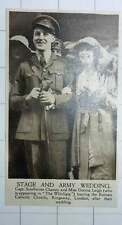 1920 Capt Southouse Chaney And Miss Dormer Leigh Marriage Kingsway London