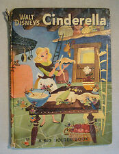 Walt Disney's Cinderella A Big Golden Book 1950 'A' Edition Pop-up Pumpkin HTF!