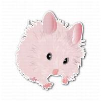 Pink Cute Hamster Laptop Locker Car Bumper Sticker