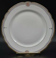 """Old Paris Sevres French Hand Painted Blue Red Fans & Gold 9 1/2"""" Dinner Plate"""