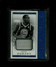Kevin Durant 2017-18 National Treasures CENTURY MATERIALS Jersey #/99! Warriors
