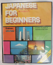 Japanese For Beginners - Gakken / Barron's 16 Pages - Book & 2 Cassettes