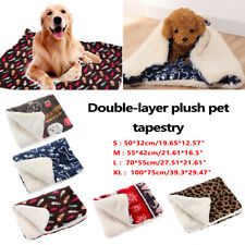 Thick Warm Cushion Flannel Dog Blanket Cat Bed Pet Mat Sleeping Pad