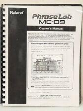 ROLAND MC-09 Phrase Lab MC-09 Owners Manual #H106