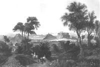 Greece ATHENS & ACROPOLIS PARTHENON TEMPLE Ruins ~ 1841 Art Print Engraving