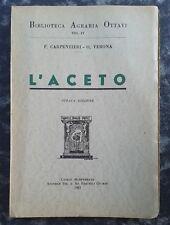 L'ACETO-ACETI COMMESTIBILI DA TOELETTA, MEDICINALI-1953-OTTAVI-CARPINTERI-VERONA