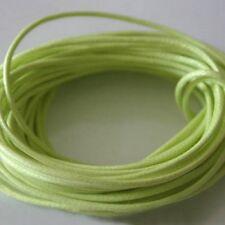 5 mètres de Fil Coton Ciré  Jaune Vert   0,7 mm