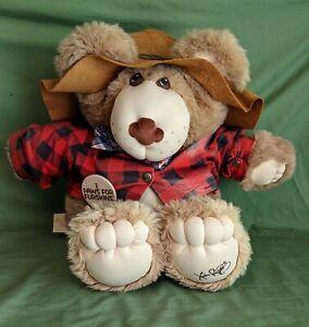 Xavier Roberts FARRELL FURSKIN Plush Bear Vintage 1984 Furskins Collection