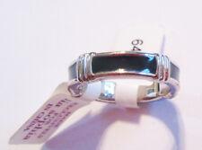 Lia Sophia Jewelry Bar None Black On Silver Ring Size 7