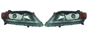 Left & Right Genuine Headlights Headlamps Pair Set For Honda Accord Coupe 13-15