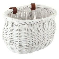 FRONT BICYCLE BIKE BASKET LARGE WILLOW WICKER BASKET WHITE BE90201