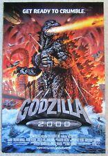 GODZILLA 2000 ORIGINAL 2000 DS 1SHT MOVIE POSTER RLD EX