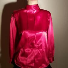 PETITE SOPHISTICATE LIQUID SATIN SHIRT TOP DRESS SUIT BLOUSE RARE VINTAGE NICE