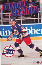 POSTER : NHL HOCKEY : TEMMU SELANNE - WINNIPEG JETS 1993 -FREE SHIPPING ! LC28 K