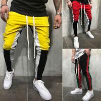 Mens Sports Pants Gym SweatPants Tracksuit Fitness Jogger Pants Casual Trousers