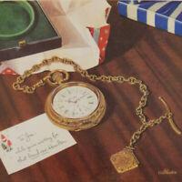1944 Hamilton pocket watch railroad advertisement WWII vintage watch print ad