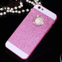 NEW Bling Glitter Crystal Hard Back Phone Case Covers For iPhone 4s 5s 6+Plus SE