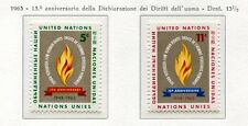 19054) UNITED NATIONS (New York) 1963 MNH** Nuovi** Human Rights