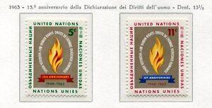 19054) United Nations (New York) 1963 MNH Nuevo Human Rights