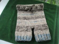 "Baby Diaper Cover Woolie Soaker Heavy Knit Prewashed Lanolized Tan Blue 20"" w"