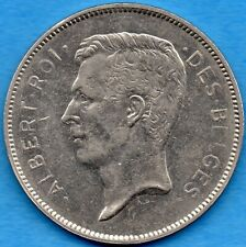 Belgium 1931 20 Twenty Francs Coin - Crown Size - Very Fine