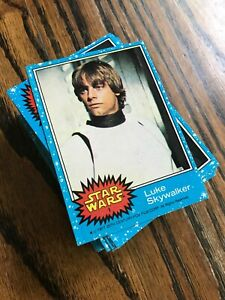 1977 Topps Star Wars Series 1 Trading Cards & Stickers Complete Set Vintage (77)
