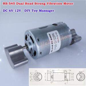 DC 6V 9V 12V Strong Vibration RS-545 Double Head Vibrator Motor DIY Toy Massager